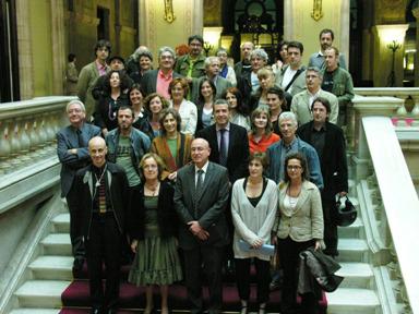 Foto de Família del dia en que es va aprovar la llei del Consell